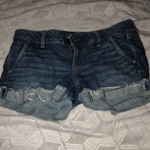 American Eagle Denim Frayed Shorts